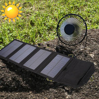 7W 6.5V Cell Solar Panel +Fan 7W 6.5V Energy Solar Panel with Fan 7W 6.5V Solar Panel + Fan Multifunctional Universal Foldable