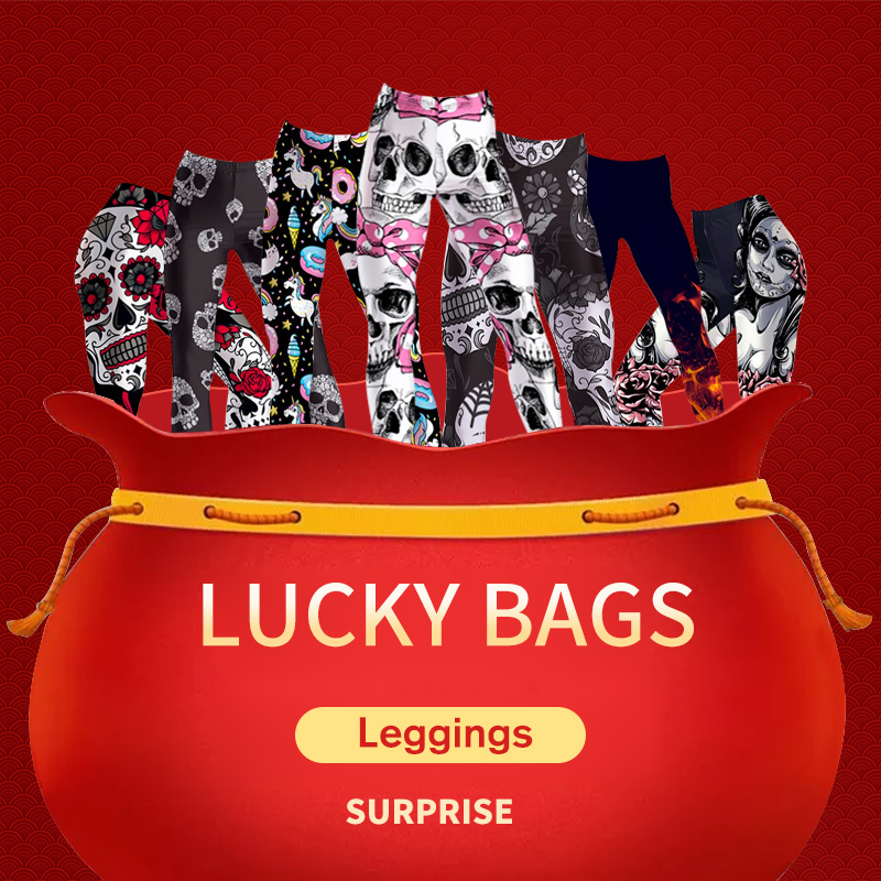 3 Pcs   BIG SURPRISE Women Workout Leggings Fitness Elastic Leggings Lucky Bags Year-end Benefits S-XXXXL