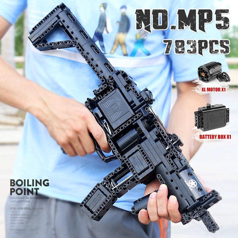 Moule roi MOC jouets créatifs le désert aigle pistolet arme SWAT pistolet modèle blocs de construction briques enfants bricolage jouets cadeaux de noël