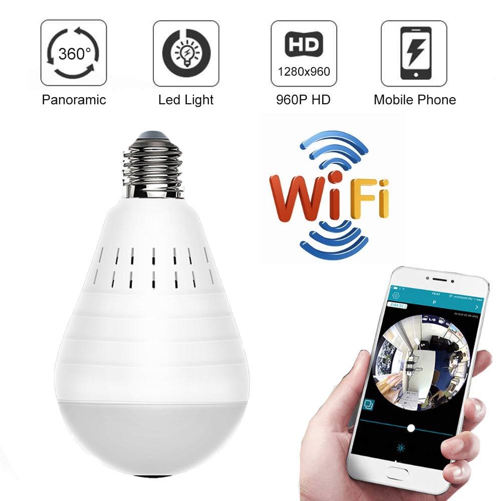 HD 920P Wifi P2P IP Surveillance Camera 360 Degree FishEye Panoramic Infrared Led Light Camera Home Security Baby Monitor