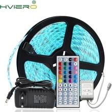 Free shipping 5M RGB LED Strip 5050 Non-waterproof 60led/m Flexible Light DC 12V + 44Key IR Remote Controller 1 set