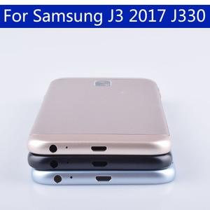Image 5 - Originele Voor Samsung Galaxy J3 2017 J330 J330F SM J330F Behuizing Batterij Cover Back Cover Case Deur Achter Chassis Shell
