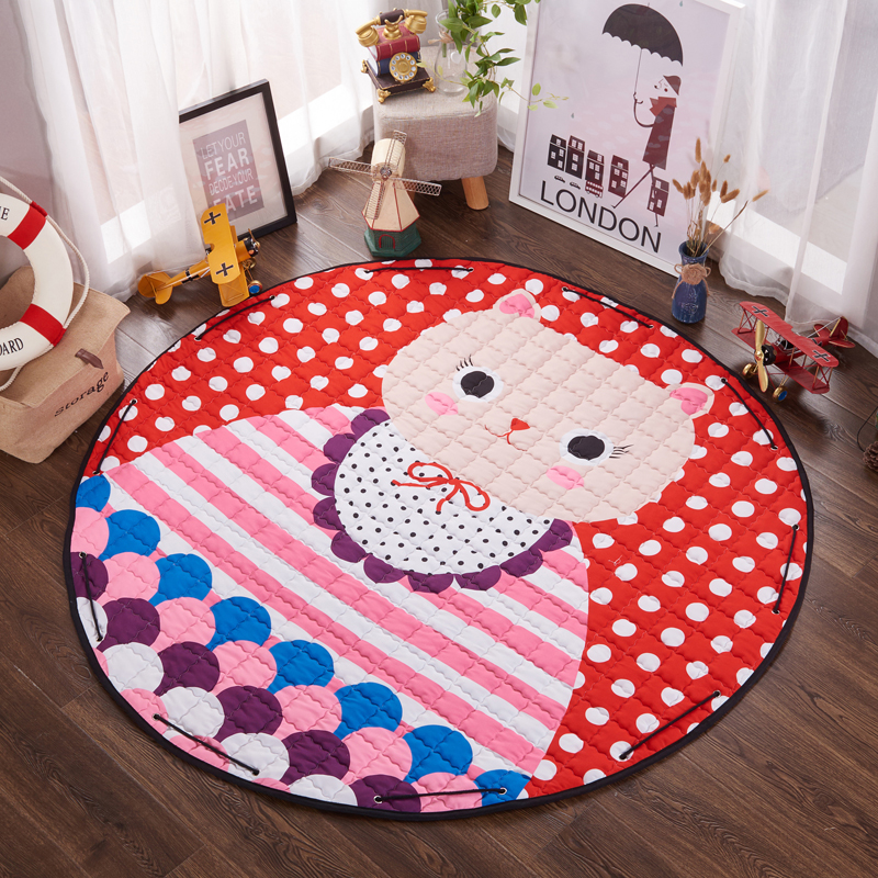 Multifunction Cartoon Lovely Animal  Pattern Play Mats Toy Storage Bag Crawling Rug Carpet For Baby Kids Nordic Style Room Decor | Happy Baby Mama