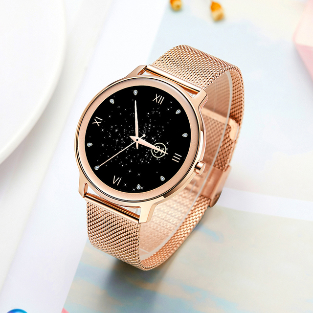 Super Slim Fashion Women Smart Watch 2021 Full Touch Round Screen Smartwatch for Woman Heart Rate Monitor For Android and IOS 2