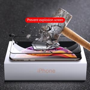 Image 2 - 3Pcs Volle Abdeckung Screen Protector Für iPhone 6 7 8 6S Plus Gehärtetem Glas Auf Die Für iPhone X XR XS MAX Schutz Glas Film