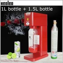 XEOLEO машина для производства содовой воды, профессиональный генератор пузырьков, машина для самостоятельного изготовления пузырьковой воды, 1л+ 1.5л черный/белый/красный
