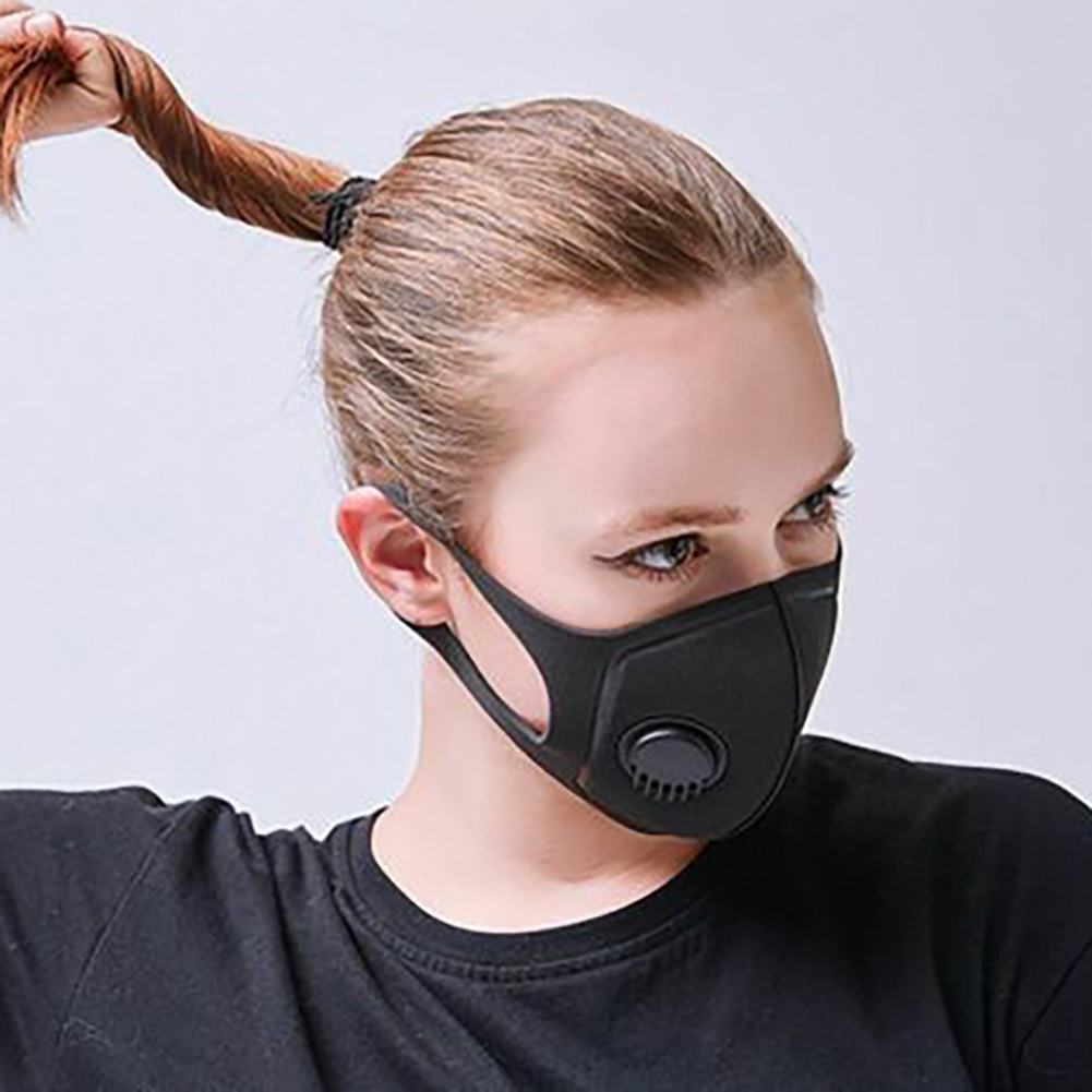 Air Purifying Mask Mouth Muffle Carbon Corona Filter Dust Haze Fog Respirator Mask Polyester Air Purifying Mask 2020 Hot F28