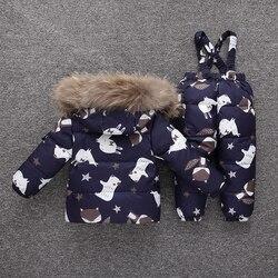Children Snowsuit -30 Degree Russia Winter Down Jacket  Clothing Sets Baby Girl Kids Clothes for Boy Parka Coat+ Pants Ski Suit
