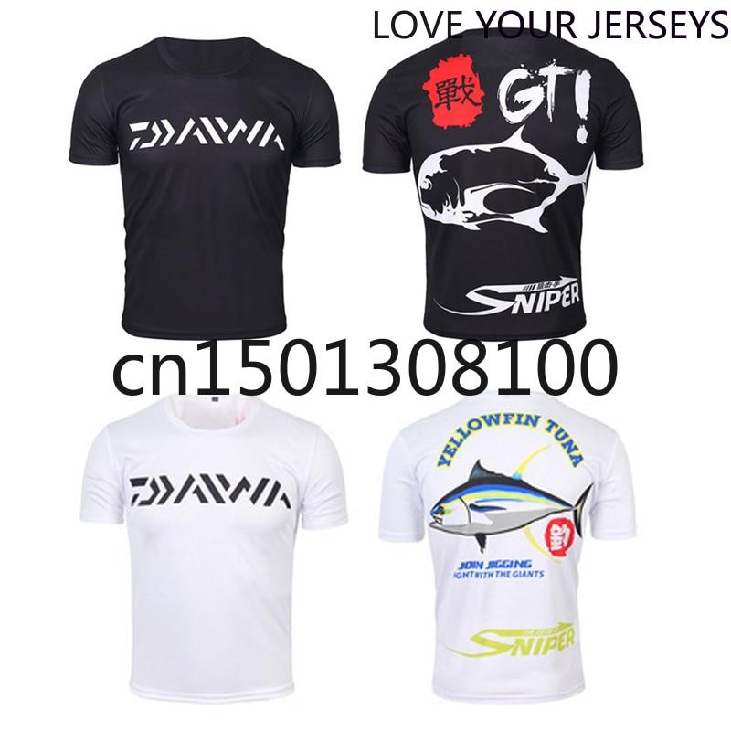 1PC Daiwa XS-5XL Summer Men Fishing T-shirt Short Sleeve Fishing Shirt Breathable Arm Sleeves Fishing Clothing Drop Shipping