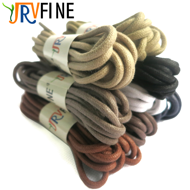 Solid Thick Round Waxed Shoelaces Dress Leather Shoes Wax Shoe Laces Rope String For Ordinary Boots Sneakers Dia 0.3cm Wholesale