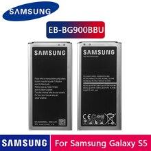 Batteria Originale Samsung EB BG900BBU EB BG900BBC 2800 Mah per Samsung S5 G900S G900F G900M G9008V 9006V 9008W 9006W g900FD Nfc