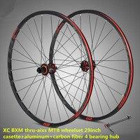 RS M920 29inch MTB Mountain Bike Wheel Ultralight Aluminum Alloy Carbon Fiber Cassette Thru aixs Hub Presta Valve Tube Wheelset