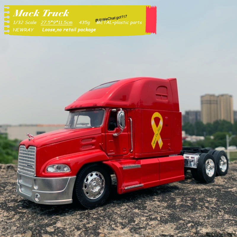 NEWRAY 1/32 Scale Truck Model Toys Mack Vision Heavy Truck 27.5cm Length Diecast Metal Car Model Toy For Gift,Kids,Collection