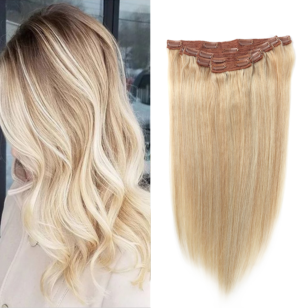 Sindra Brazilian Straight Machine Made Remy Clip In On Hair Full Head 100% Human Hair Extensions 90g 120g 7pcs 18 Clips
