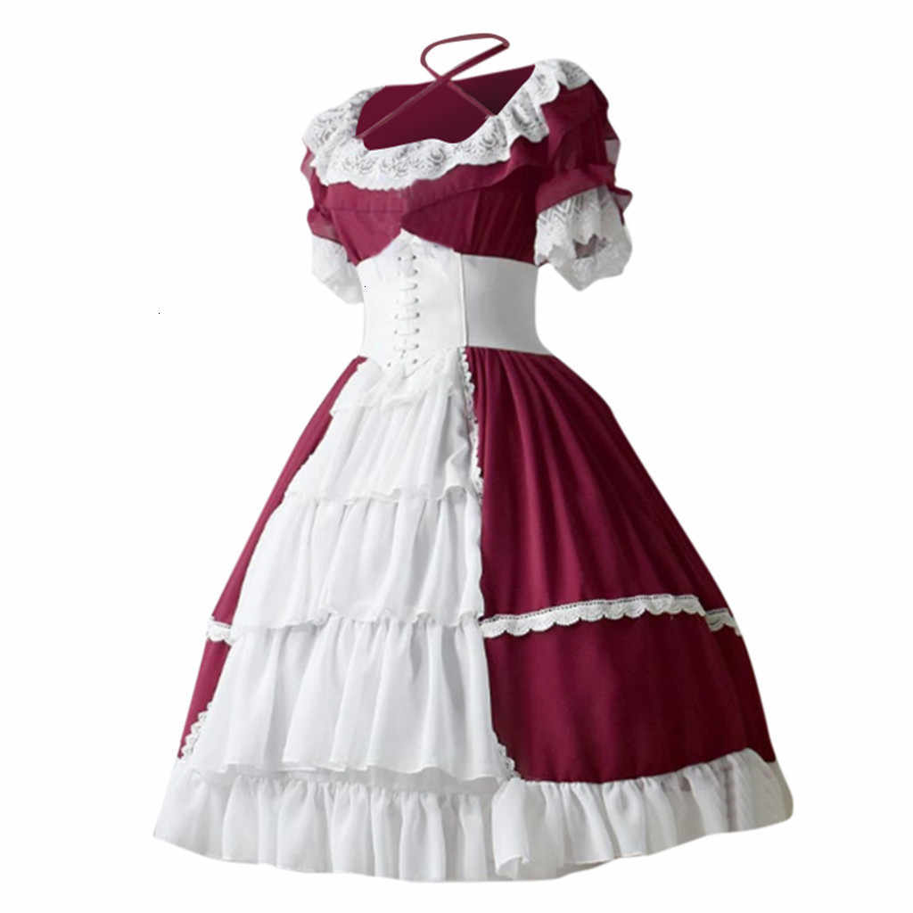 Vrouwen Middleeuwse Винтаж Готический Стиль Вечерние платья Hof Taart Kant Botsende Ruches Jurk элегантные вечерние платья S-5XL Z0820