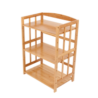 Rack floor to ceiling multi layer oven microwave oven rack solid wood pot lid storage cabinet living room