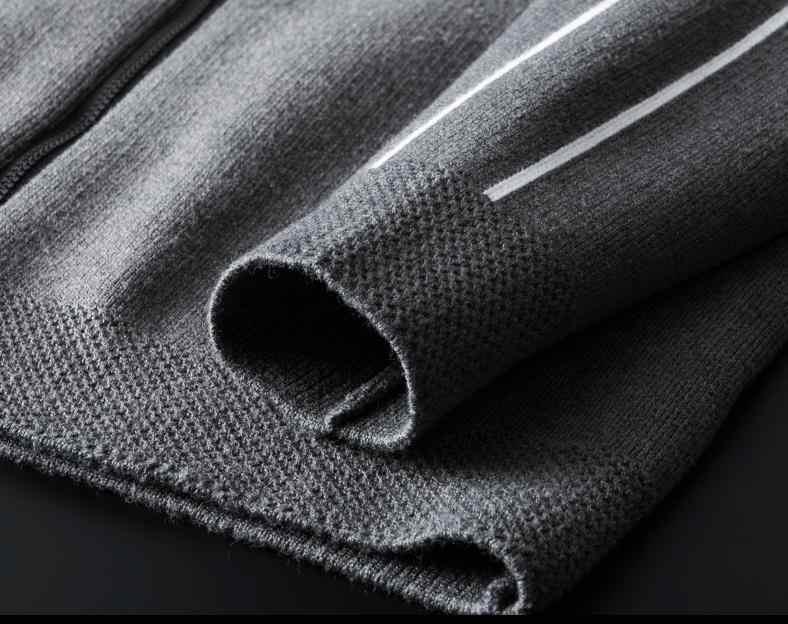 스탠드 칼라 스웨터 럭셔리 니트 지퍼 솔리드 컬러 남성 봄, 가을 슬림 피트 망 스웨터 4XL