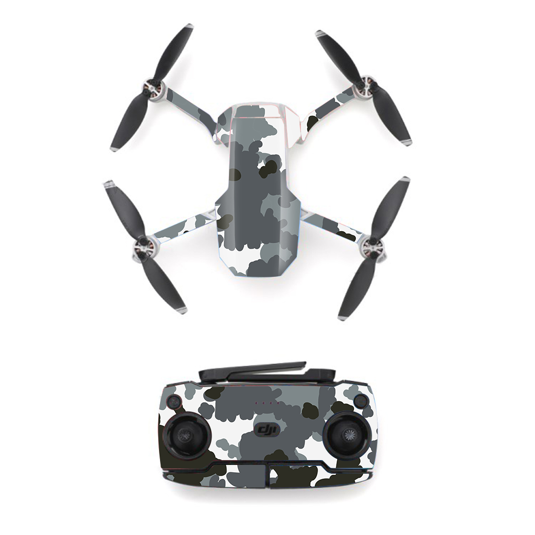 Camo Camouflage Style Skin Sticker For DJI Mavic Mini Drone And Remote Controller Decal Vinyl Skins Cover M0004