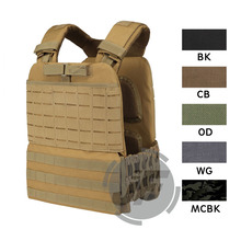 Tactical CrossFit Plate Carrier Weighted Vest Adjustable MOLLE Modular Quick Release for Training Fitness Running Sports