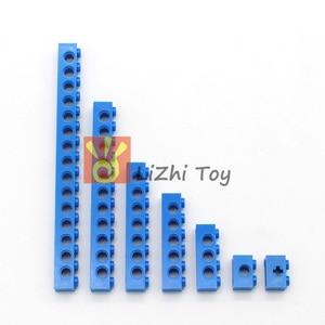 Image 5 - Технические строительные блоки, детали оптом MOC, толстые блоки, аксессуары для комбинации, шипованные длинные лучи, робот, детские игрушки
