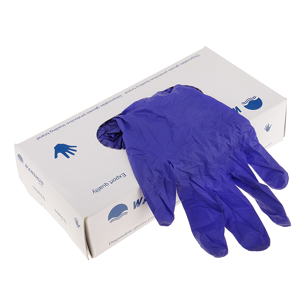 Purple High Quality Nitrile Exam Disposable Gloves Medical Grade 100/box XL/L/M/S