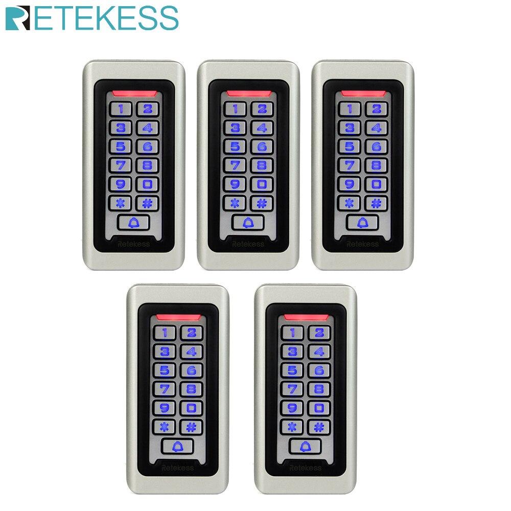 5 шт. T AC03 Клавиатура RFID система контроля доступа Бесконтактная карта автономная 2000 пользователей контроль доступа к двери водонепроницаемый F9501D