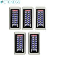 5pcs T AC03 Keypad RFID Access Control System Proximity Card Standalone 2000 Users Door Access Control Waterproof