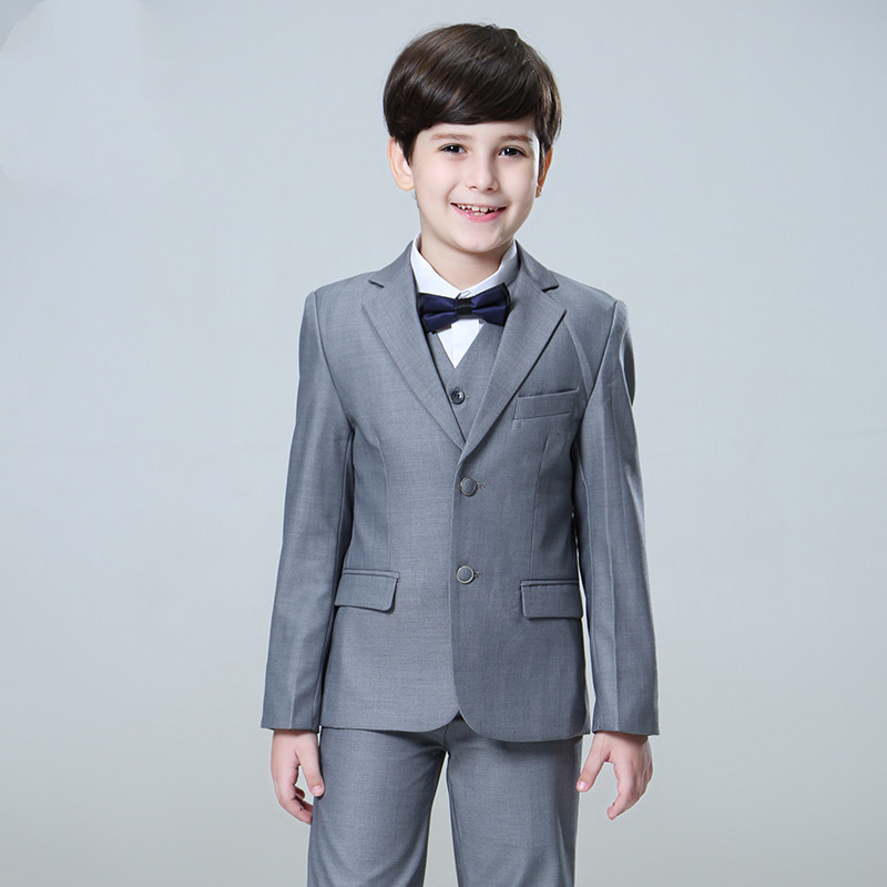 Kids Formal Wedding Groom Tuxedo Flower Boy Baby Party Dress Vest Suit Waistcoat