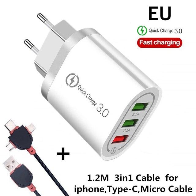 EU 3in1 Cable White