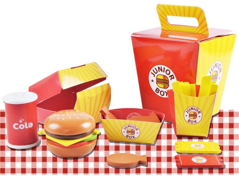 empilhamento burger combinações crianças presentes
