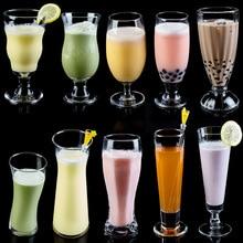 Heat-resisting Transparent Beer Wine Glass Household Drinks Dessert Milkshake Tea Milk Cups Multifunctional Beverage Cups Gifts