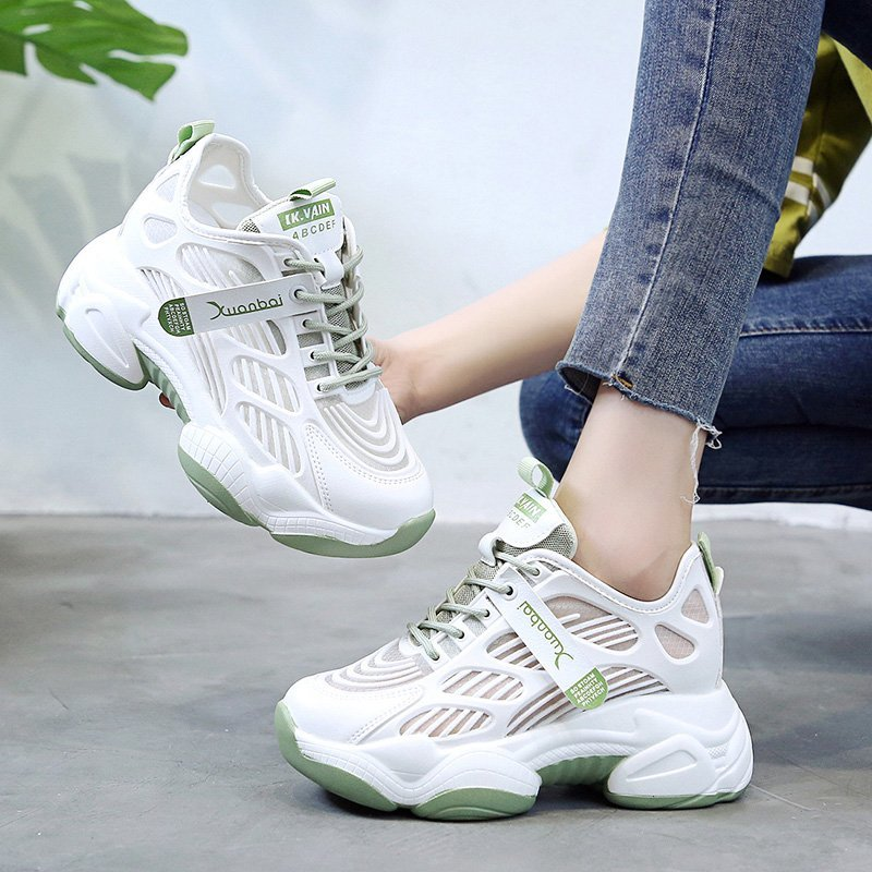 2020 summer new casual sports shoes breathable wild daddy shoes female tide increased thick sole shoes Z889