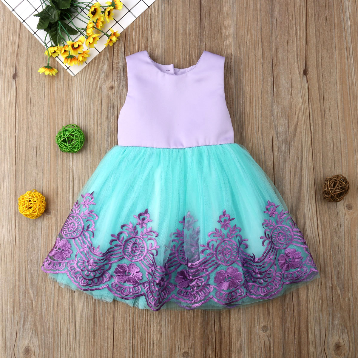 Toddler Baby Girls Dres Summer Sleeveless Pageant Party Princess Formal Bridesmaid Gown Kids Tutu Dress Girls Lace Dresses