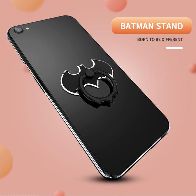 Luxury Batman Aluminum Metal Universal Finger Ring Smartphone Mobile Cell Phone Hand Desk Stand