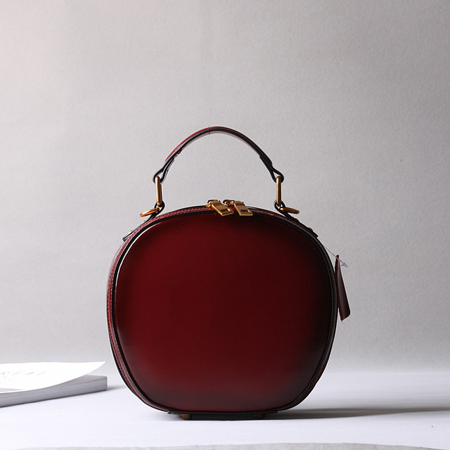 2019 новая кожаная сумка в стиле ретро, сумка через плечо, модная маленькая круглая сумка