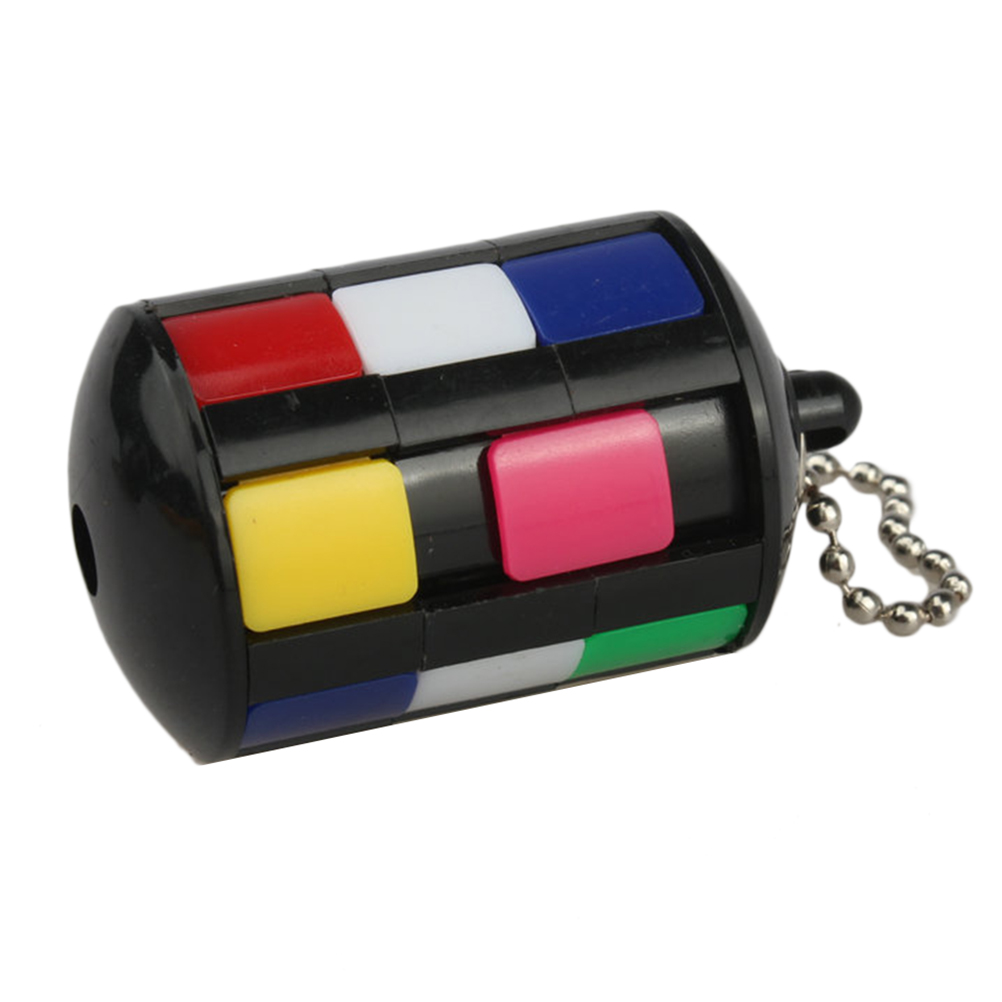 Colorful Cube Educational Puzzle Cube With Keychain Backpack Ornament Educational Toys Antistress Toys For Children #40(China)