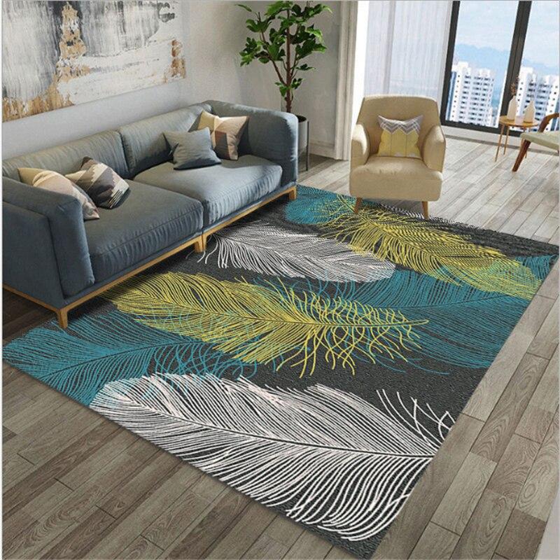 Tapis et tapis pour la maison salon 2019 simplicité moderne grand tapis de sol tapis enfants chambre tapis 100% Polyester