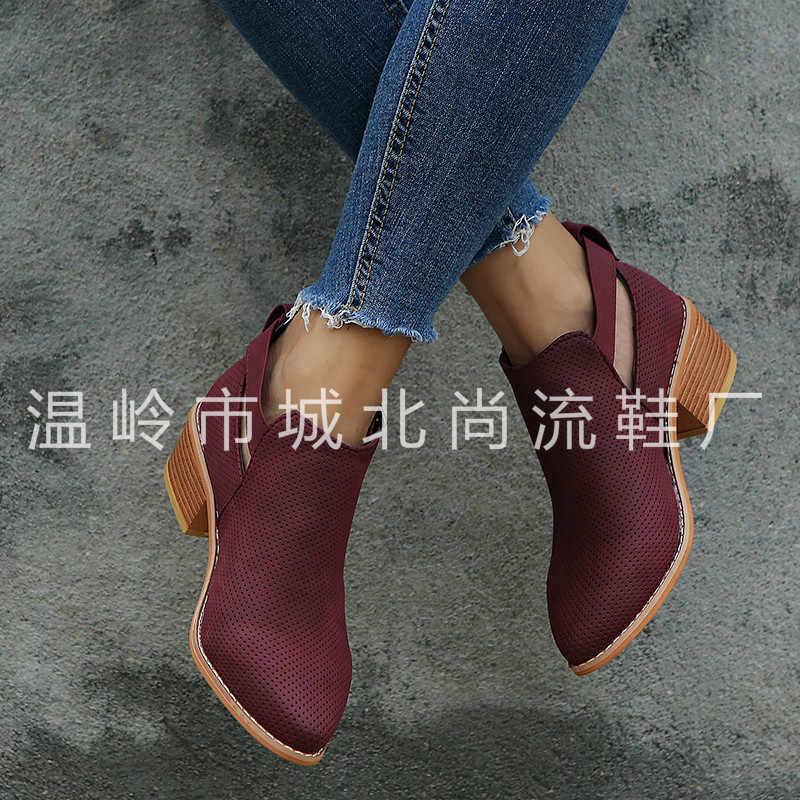 Bayan Botları Moda Rahat Bayan Ayakkabıları Martins Çizmeler Süet Deri Toka Çizmeler Yüksek Topuklu Fermuar kar ayakkabıları Femme Için