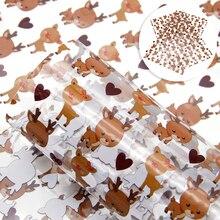 Рождественский 20*34 см прозрачный полосатый напечатанный синтетический кожаный Пэчворк для волос бант сумка кошелек чехол для телефона DIY, 1Yc7636