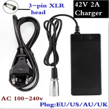 42V 2A Charger 10s 36V Li-ion electric bike battery Lithium Battery Input 100-240V