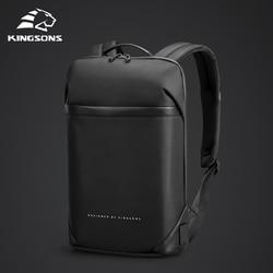 Kingsons Slim sac à dos pour ordinateur portable hommes 15.6 pouces bureau travail hommes sac à dos sac d'affaires unisexe noir ultraléger sac à dos mince Mochila