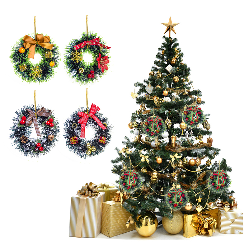 2019 New Christmas Garland Decoration For Home PVC Xmas Tree Wreaths Wall Hanging Ornaments Party Supplies New Year Gift Navidad