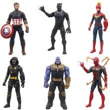 Marvel the avenger endgame 30cm super herói thor hulk thanos wolverine homem-aranha homem de ferro figura de ação brinquedos para crianças presentes