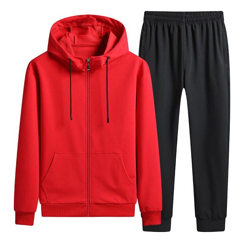 Patchwork Men's Suit Long Sleeve Pants Cotton Suit Ventilation Cardigan Even Midnight Twinset Men Brand Hoodie Sets