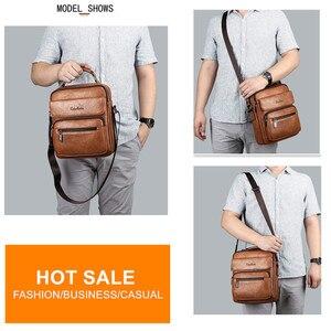 Image 3 - Celinv Koilm большой Размеры мужские сумки известного бренда мужские кожаные сумки через плечо сумка мессенджер для 9,7 дюймов iPad повседневное бизнес