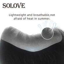 Hairline Toupee Human-Hair Thin-Skin Replacement-System Men's V-Loop Virgin Brazilian