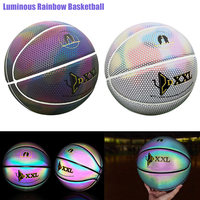 Newly Cool Luminous Basketball Ball Night Game Street PU Glowing Rainbow Light Children Training Tool Street Basketball Show SD6