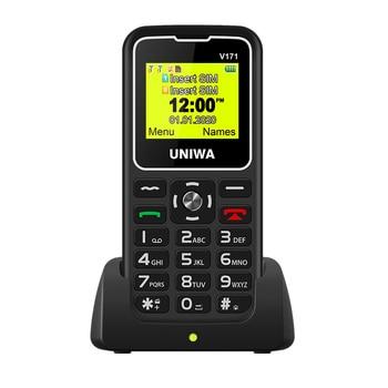Original UNIWA V171 Cellphone 2G GSM MT6261D Dual SIM 1000mAh Phones 1.77'' 0.08MP Camera LED Flashlight MP3 Student