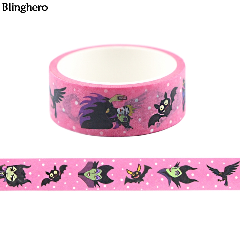 Blinghero 15mmX5m Fairy Tale Washi Tape Cool Masking Tape Magical Adhesive Tapes Fashion Tape Stickers BH0397