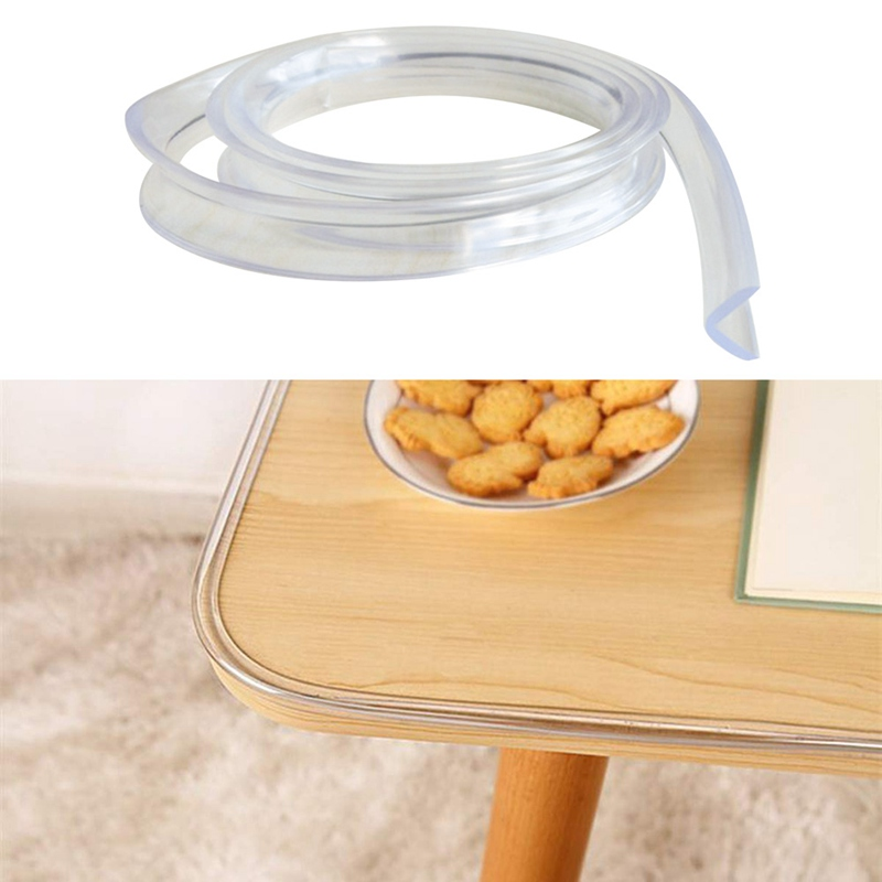 100CM Baby Table Protector For Furniture Corner Guards Soft Silicone Cover Furniture Wall Edge Bumper Strip Corner Protector
